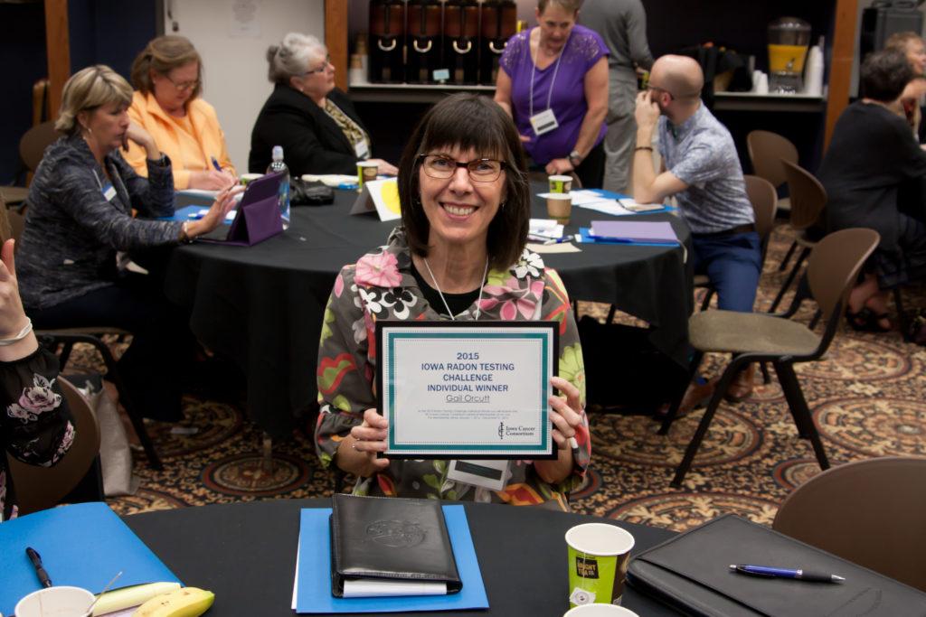 2015 Iowa Radon Testing Challenge Individual WinnerGail Orcutt