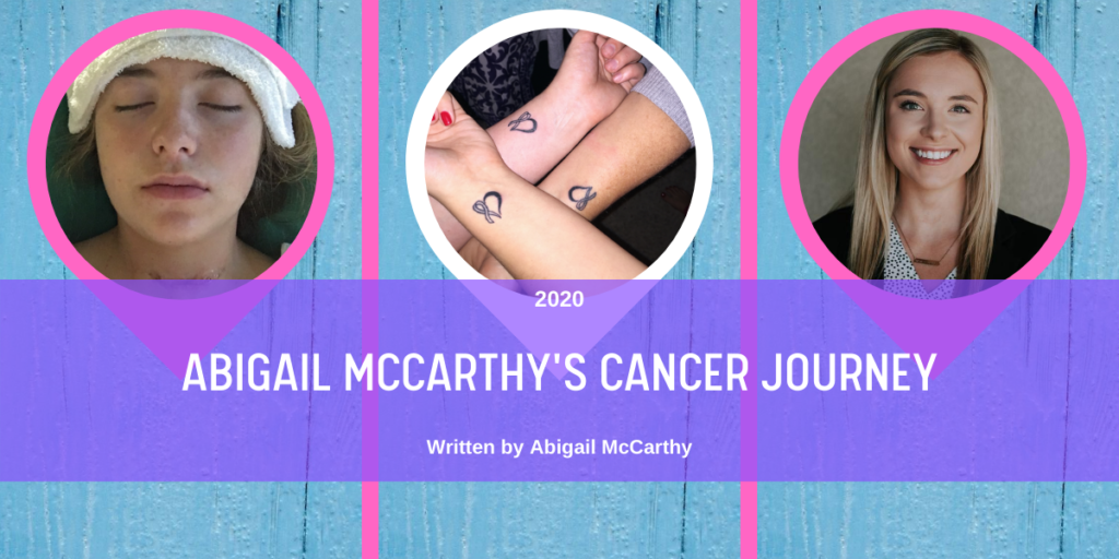August 2020 Abigail McCarthy's Cancer Journey Blog Header