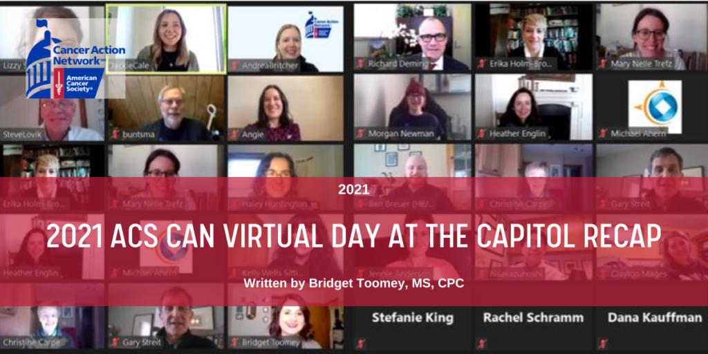 2021 Blog Header - ACS CAN Virtual Day at the Capitol